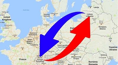 Transport-Spedition von Schweiz nach Litauen und von Litauen nach Schweiz.
