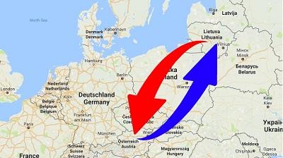 Spedition-Transport von Österreich nach Litauen un von Litauen nach Österreich.