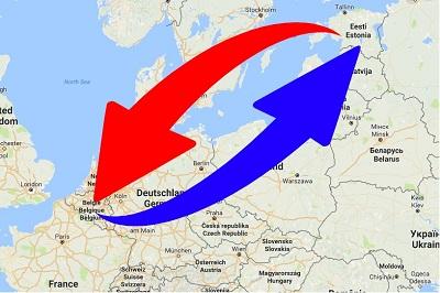 Transport van België naar Estland en van Estland naar België.