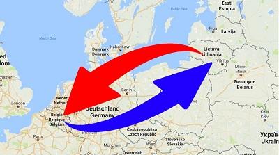 Transport Belgique en Lituanie et de Lituanie en Belgique.