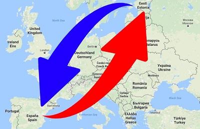 Transporte de Estonia a España y de España a Estonia