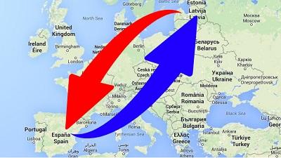 Transporte de Letonia a España y de España a Letonia