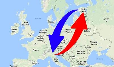 Trasporti Dalla Estonia alla Italia e dalla Italia alla Estonia.
