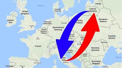 Trasporti Dalla Lituania alla Italia e dalla Italia alla Lituania.