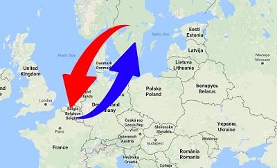 Transport från Sverige till Belgien och från Belgien till Sverige