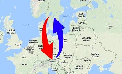 Transport från Sverige till Österrike och från Österrike till Sverige