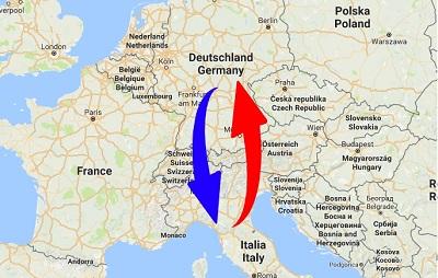 Spedition / Transport von Deutschland nach Italien