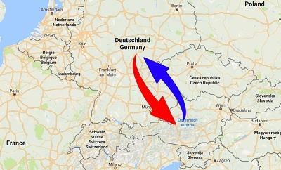 Spedition / Transport von Deutschland nach Österreich