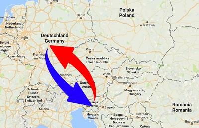 Spedition / Transport von Deutschland nach Slowenien