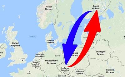Kuljetus Suomen Tšekin tasavallan