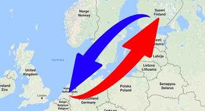 Kuljetus Suomen - Alankomaat (Hollanti)