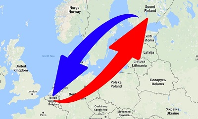 Kuljetus Suomen Belgian
