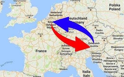 Transport Belgium to Austria