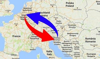 Transport Belgium to Slovenia