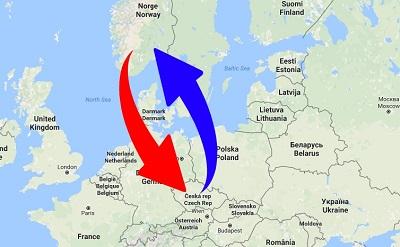 Transport Norway to Czech Republic
