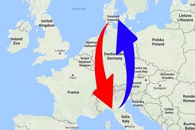 Trasporti Italia alla Danimarca