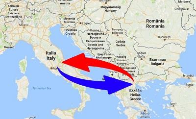 Trasporti Italia alla Grecia