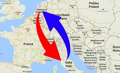 Trasporti Italia alla Olanda