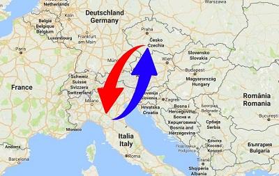 Trasporti Italia alla Repubblica Ceca