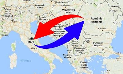 Trasporti Italia alla Romania