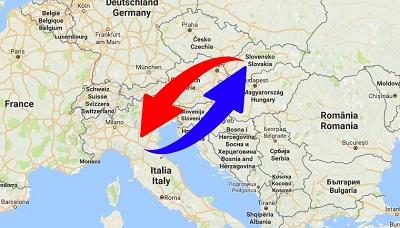 Trasporti Italia alla Slovacchia