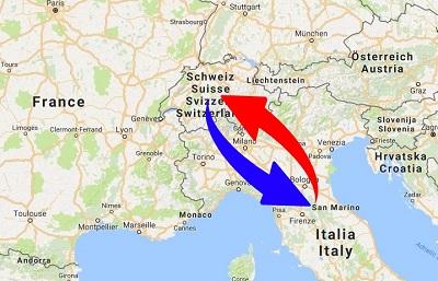 Trasporti Italia alla Svizzera