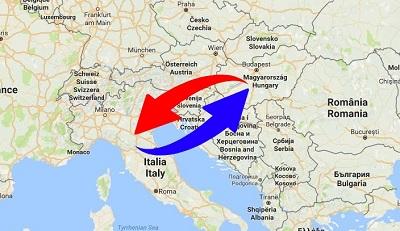 Trasporti Italia alla Ungheria