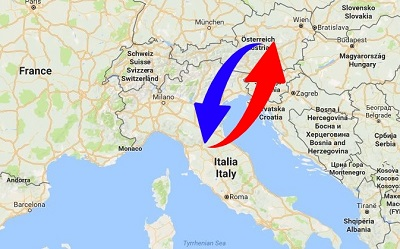 Trasporti Italia alla Austria