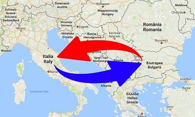 Trasporti Italia alla Bulgaria