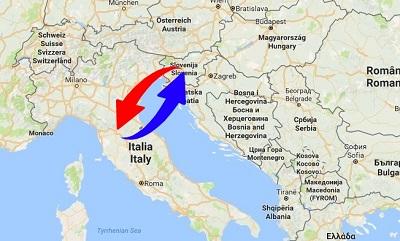 Trasporti Italia alla Slovenia