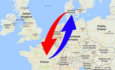 Transport Frankrig til Danmark og Danmark til Frankrig