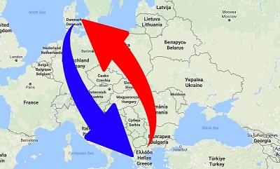 Transport Grækenland til Danmark og Danmark til Grækenland