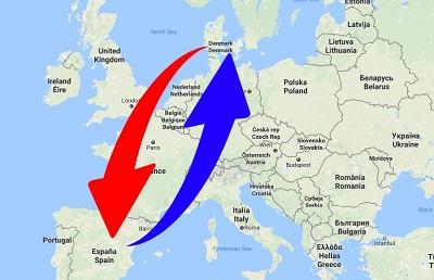 Transport Spanien til Danmark og Danmark til Spanien