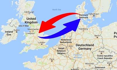 Transport Storbritannien til Danmark