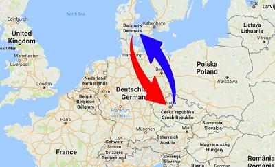 Transport Tjekkiet til Danmark og Danmark til Tjekkiet