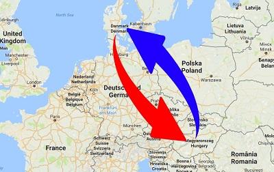 Transport Ungarn til Danmark og Danmark til Ungarn
