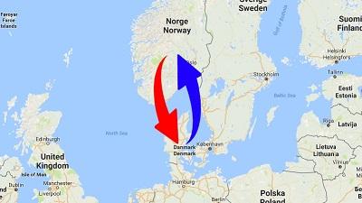 Transport Norge til Danmark og Danmark til Norge